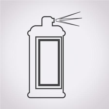 hairspray: El icono de pulverizaci�n Vectores