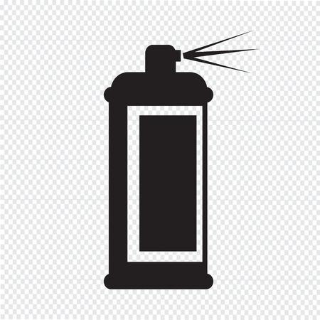 odors: Spray icon Illustration