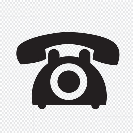 vintage telephone: old phone icon Illustration