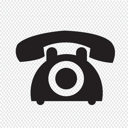 oude telefoon pictogram Stock Illustratie