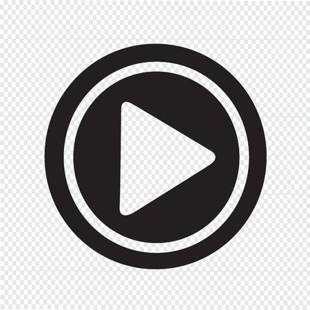 iconos de m�sica: Jugar el icono Vectores