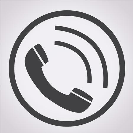 Telephone receiver icon Vectores