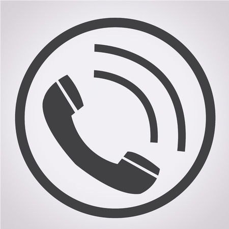 Telephone receiver icon Illustration