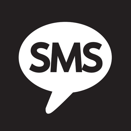 sms icon: SMS icon Illustration