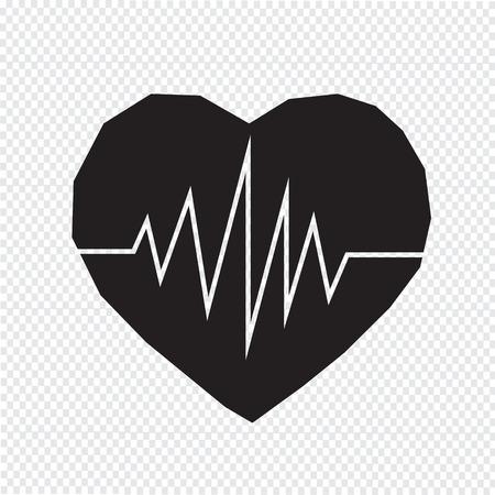 cardiograph: heartbeat icon