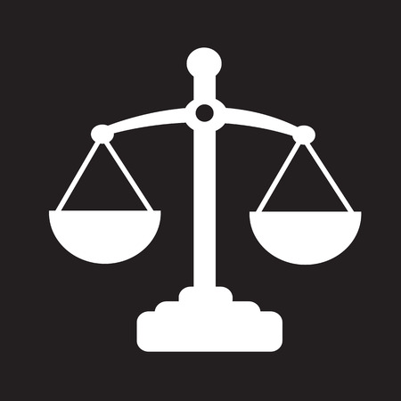 Scales of justice icon Illustration
