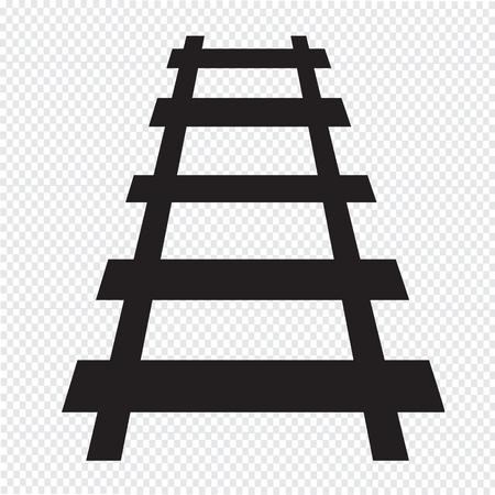 railway track: Spoorlijn pictogram