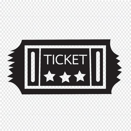 stub: Vintage Ticket Icon Illustration
