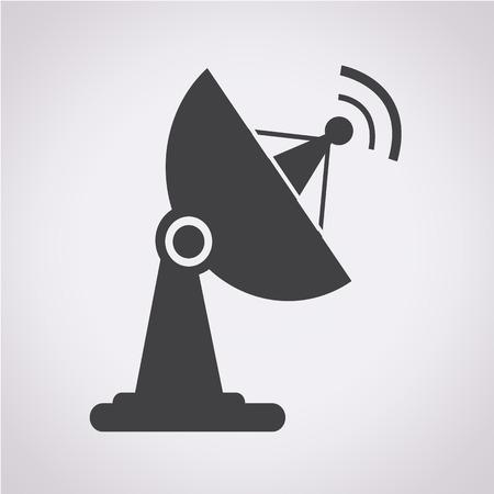 antena parabolica: icono de antena parabólica