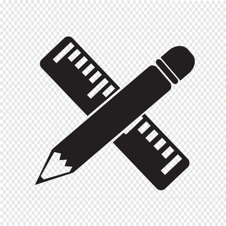 ruler: Pencil with ruler icon