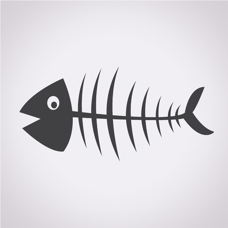 skeleton of fish: Fish esqueleto
