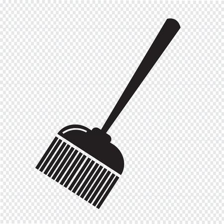 broom: broom icon Illustration