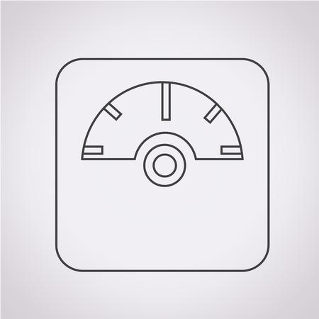 重み付け装置アイコン  イラスト・ベクター素材