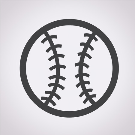 softball: baseball icon Illustration