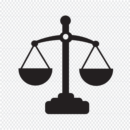 criminal justice: Scales of justice icon Illustration