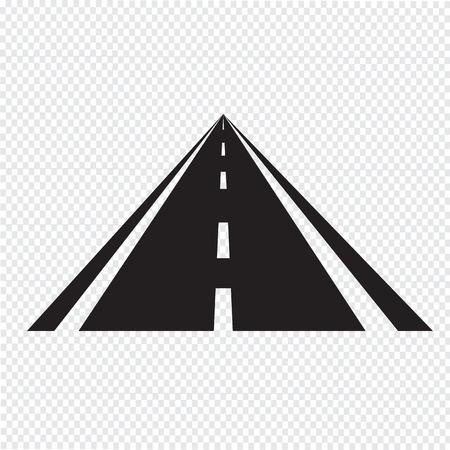road-pictogram Stock Illustratie