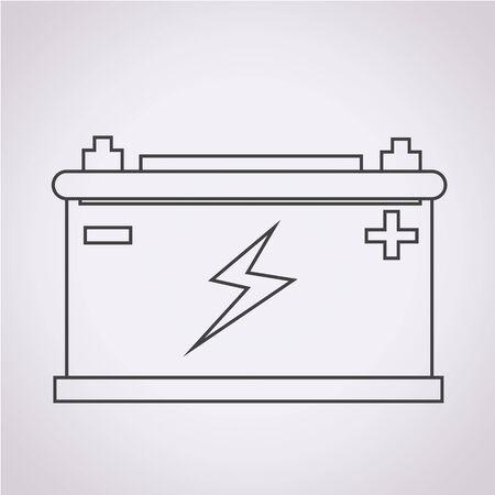 Autobatteriesymbol Vektorgrafik