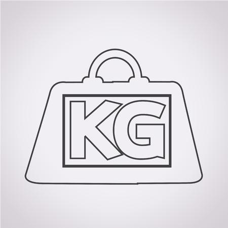 ton: Ağırlık kilogram simgesi