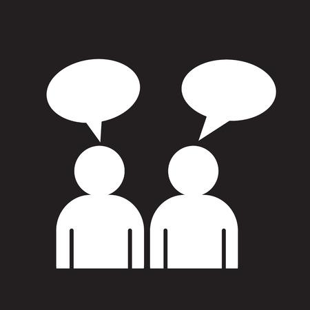 talking people: people talk icon Illustration