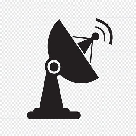 transmitting: satellite dish icon