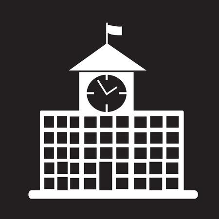 edificio escuela: icono de edificio de la escuela