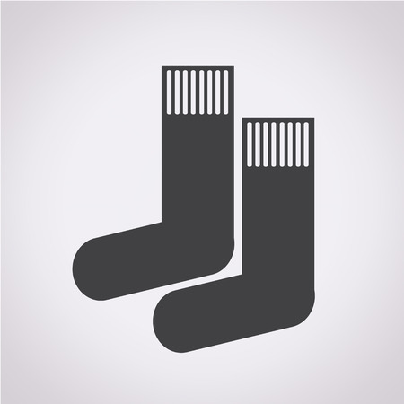 hosiery: sock icon Illustration