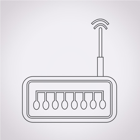 ethernet cable: router icon