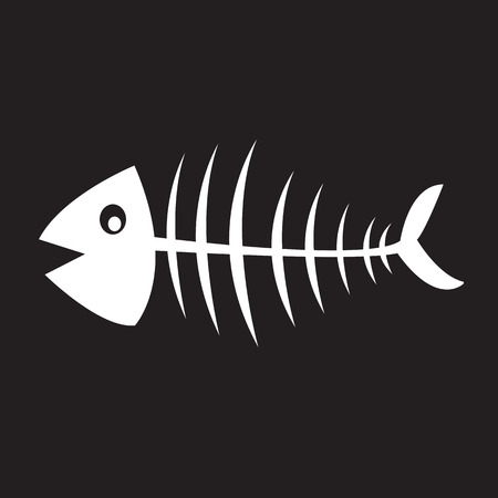 inedible: Fish skeleton