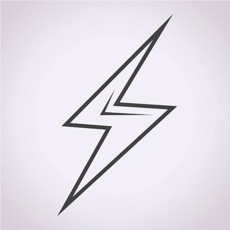 lightning bolt: lightning icon