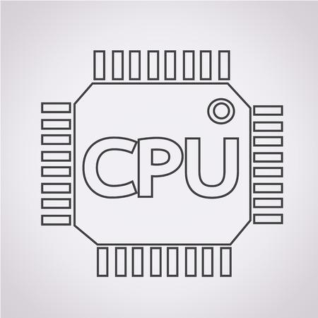 microelectronics: CPU icon