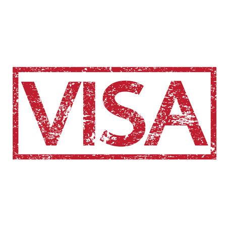 Stamp text VISA Vector