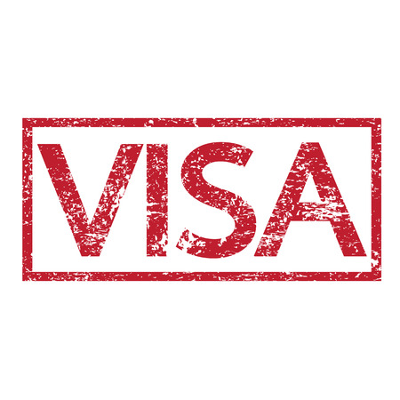 confirmed verification: Stamp text VISA