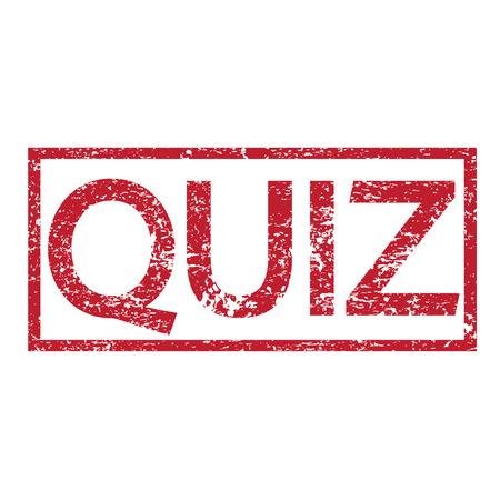 quizzing: Stamp text QUIZ Illustration