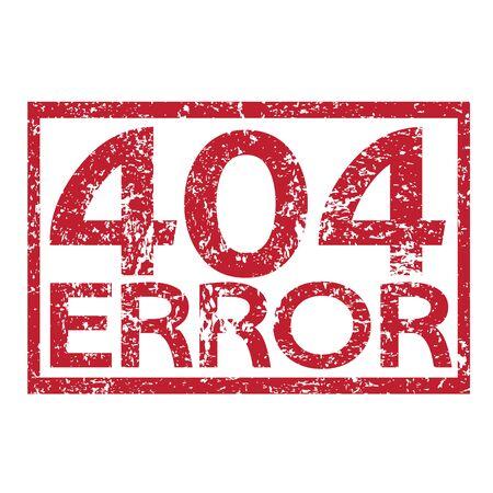 Stamp text 404 ERROR Vector