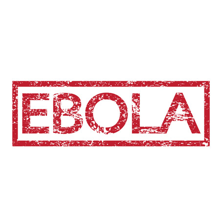 h1n1 vaccination: Stamp text EBOLA