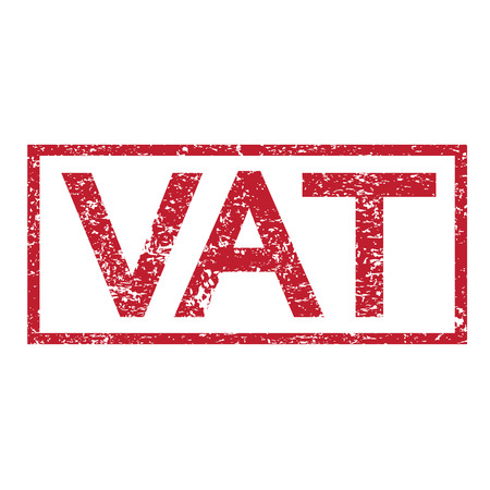 vat: Stamp text VAT