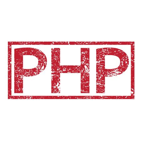 html5: Stamp text PHP Illustration
