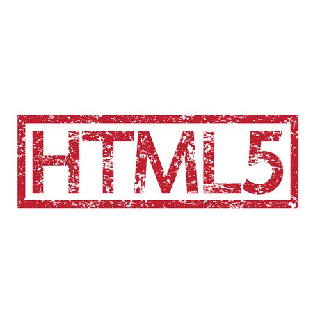 html5: Stamp text HTML5