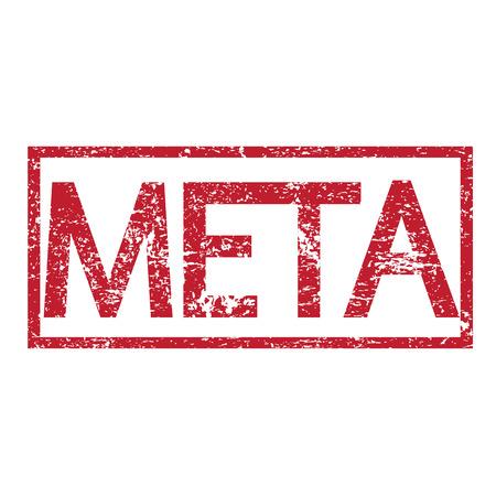 meta: Stamp text META