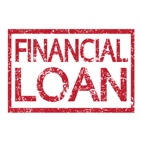 mortgage rates: Stamp text FINANCIAL LOAN
