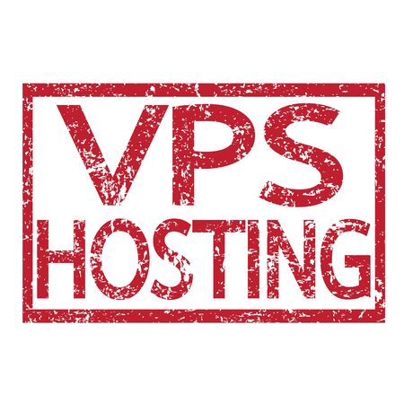 webhost: Stamp text VPS HOSTING