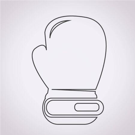 boxing glove: boxing glove icon Illustration
