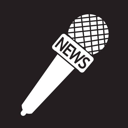 live stream sign: news microphone icon