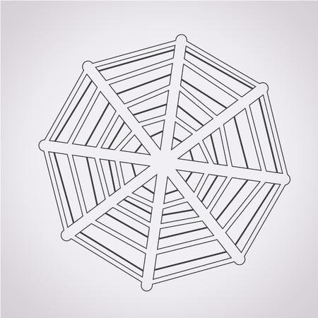 spiderweb: Web net spiderweb icon