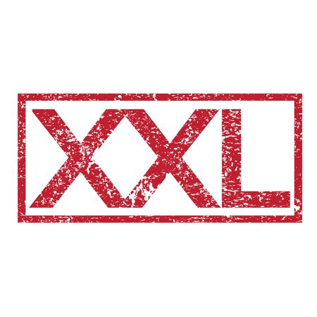 xxl: Stamp text XXL Illustration