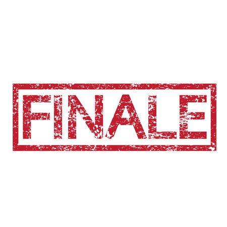 last day: Stamp text FINALE Illustration
