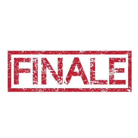 finale: Stamp text FINALE Illustration