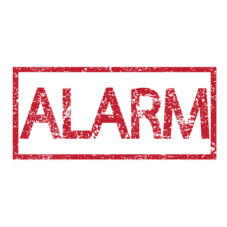 dangerously: Stamp text ALARM