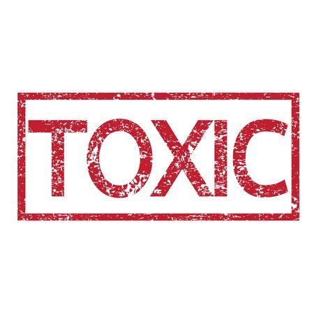 poison symbol: Stamp text TOXIC Illustration