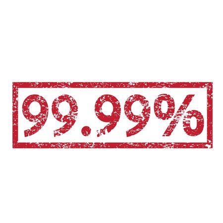 99: Stamp text 99.99 percent